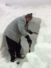 Cutting Snow Blocks
