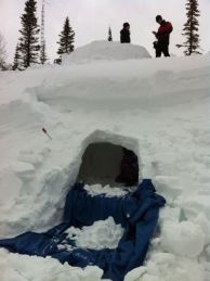 igloo above